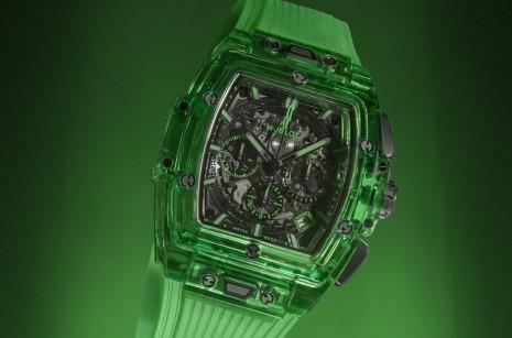 宇舶酒桶型錶殼第一次搭配Saxem綠色透明錶殼