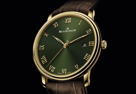 寶珀Villeret超薄錶首發綠色面盤款式
