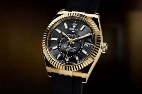 換上橡膠錶帶運動機能再進化的Sky-Dweller天行者