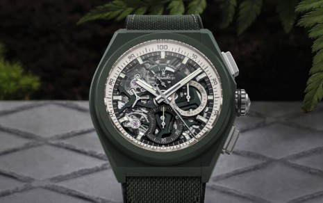 真力時DEFY 21計時錶第一次啟用綠色陶瓷錶殼