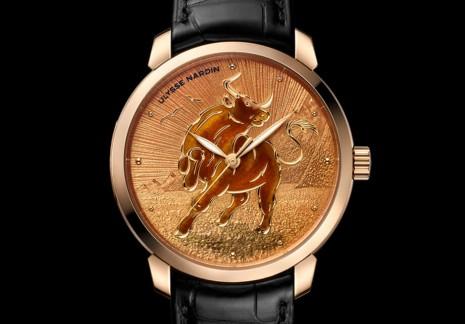 雅典用內填琺瑯打造鎏金系列牛年生肖錶