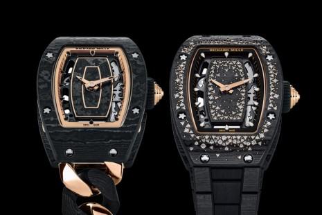 RICHARD MILLE連發兩款採用獨家碳纖維錶殼的RM 07-01女錶