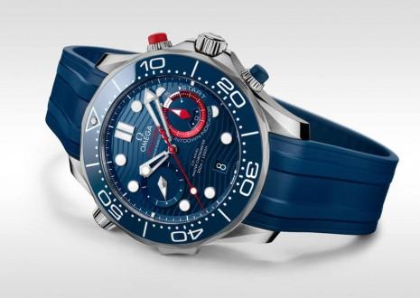 歐米茄新增一款海馬潛水300米美洲盃計時碼錶