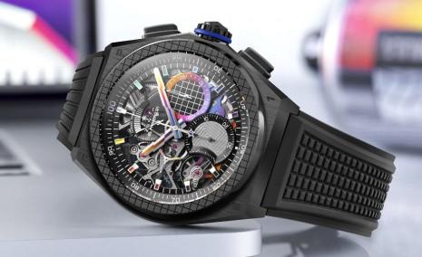 真力時與藝術家聯名創作「視覺色譜概念」DEFY 21限量錶