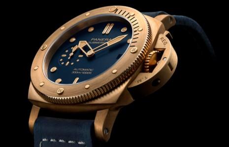沛納海第五代青銅潛水錶換機芯錶殼尺寸也跟著變小