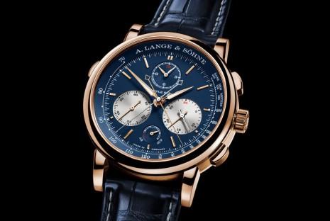朗格頂級追針計時錶Triple Split新推玫瑰金藍面改款