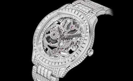伯爵Polo鏤空錶增添頂級奢華的白金滿天星版本