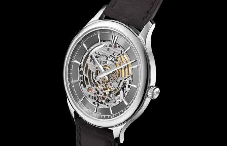 蕭邦L.U.C超薄限量錶鏤空機芯正面罕見以日內瓦波紋修飾