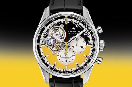 真力時6度與雪茄大廠COHIBA合作打造開芯聯名計時碼錶