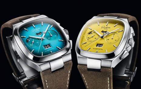 格拉蘇蒂原創Seventies系列新出黃、藍兩款漆面大日期計時碼錶