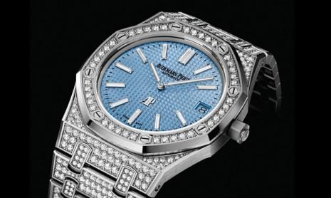 AP皇家橡樹Jumbo超薄錶鑲上千顆鑽石閃耀登場